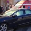 Ambulanță, lovită de un bolid de lux în Cluj-Napoca