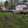 Ambulanță răsturnată în Vrancea. Trei răniți!
