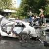 Un autoturism a explodat în Brașov