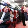 Iohannis a mers cu trenul până la Ploiești