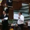 PSD și USR se luptă în (pancarte) în Senat
