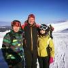 Iohannis, la schi în Masivul Șureanu